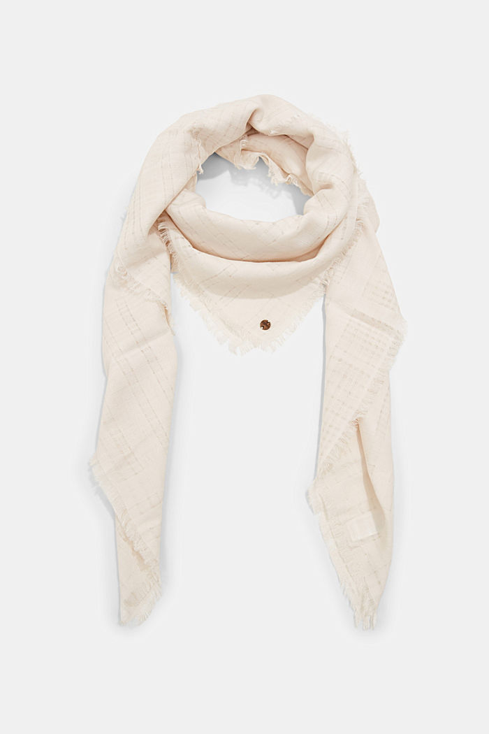 #ReimagineNaturalLifestyle: Scarf with woven pattern, OFF WHITE, detail image number 0