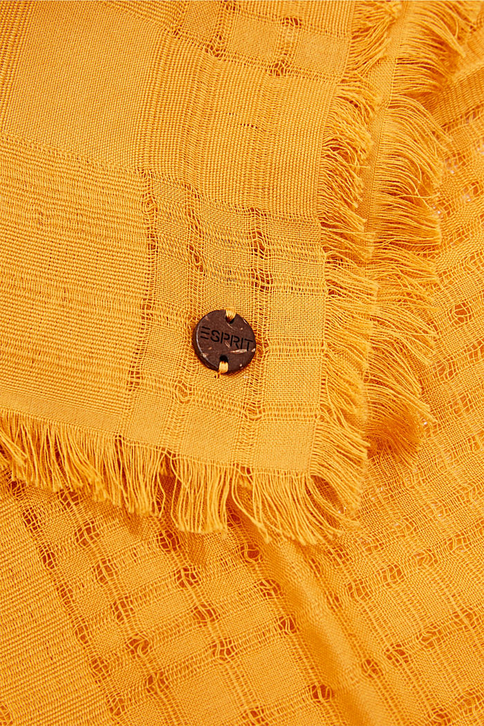 #ReimagineNaturalLifestyle: Scarf with woven pattern, HONEY YELLOW, detail image number 2