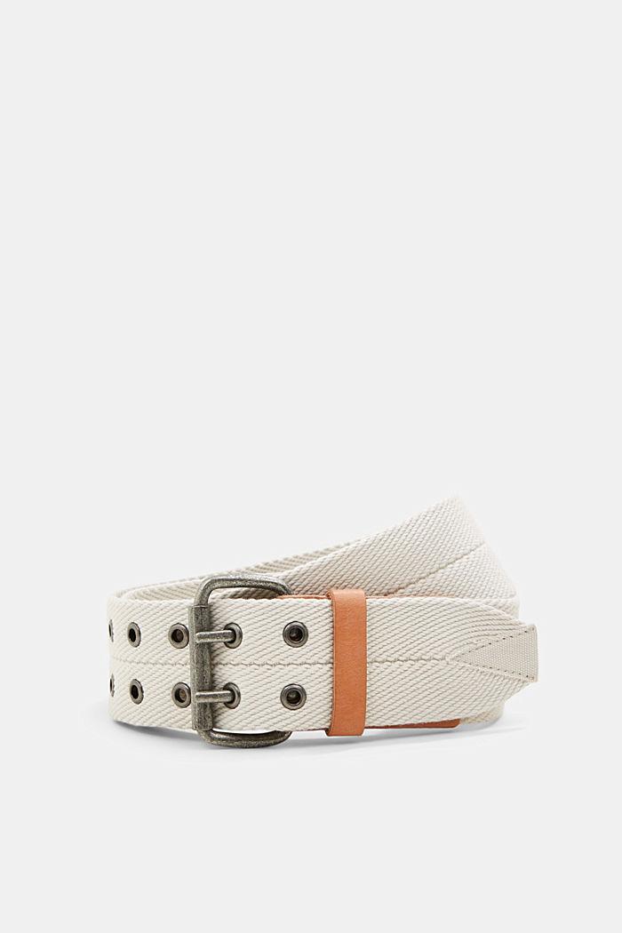 Reciclado: cinturón tejido con detalles de piel, LIGHT BEIGE, detail image number 0