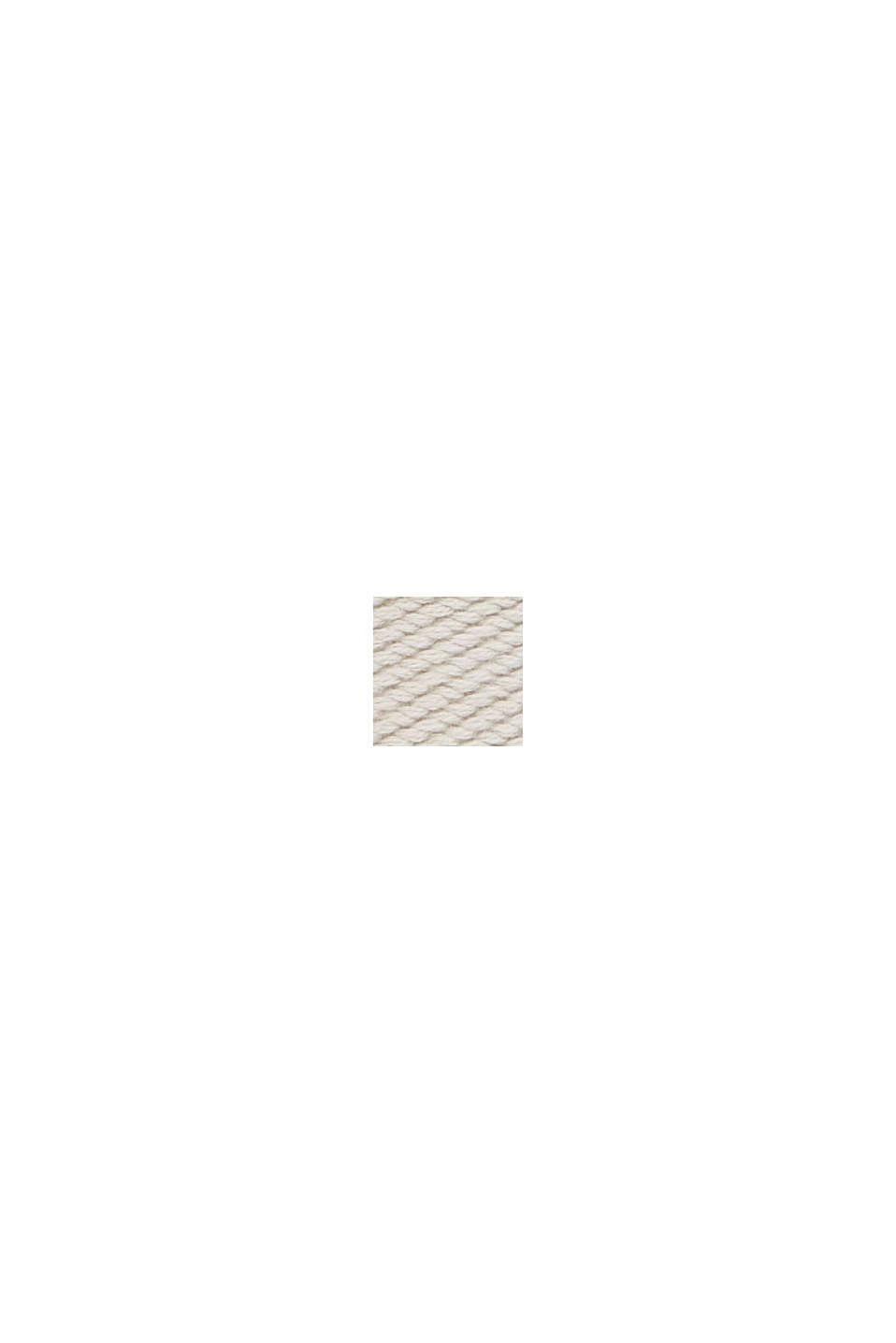 Återvunnet material: Vävt skärp med skinndetaljer, LIGHT BEIGE, swatch