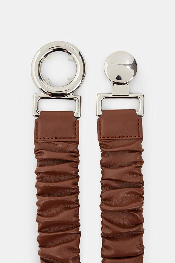 Elasticated waist belt with clip buckle, CARAMEL, detail image number 1