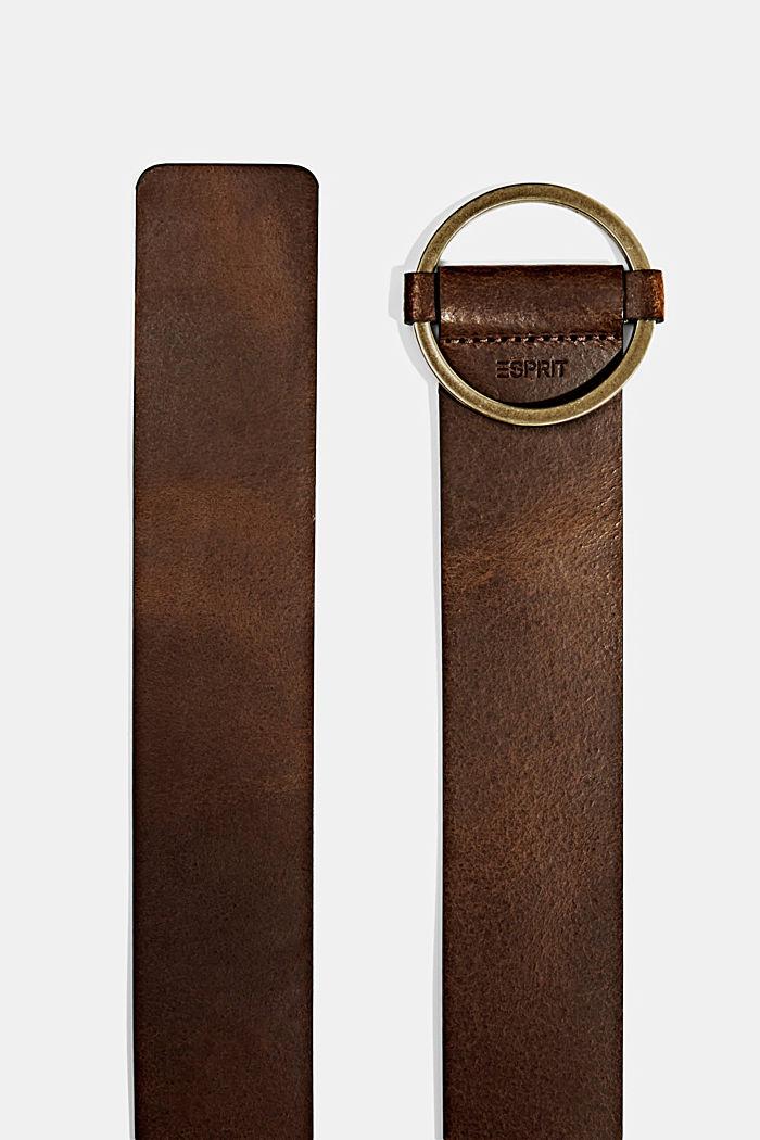 Breiter Taillengürtel aus Echtleder, RUST BROWN, detail image number 1