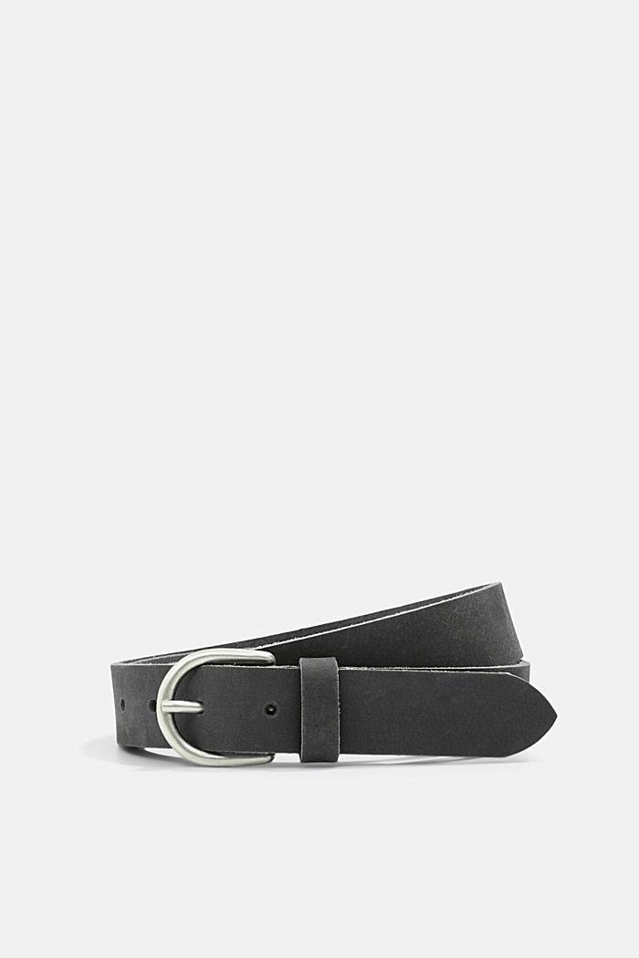 Leather belt, NAVY, detail image number 0