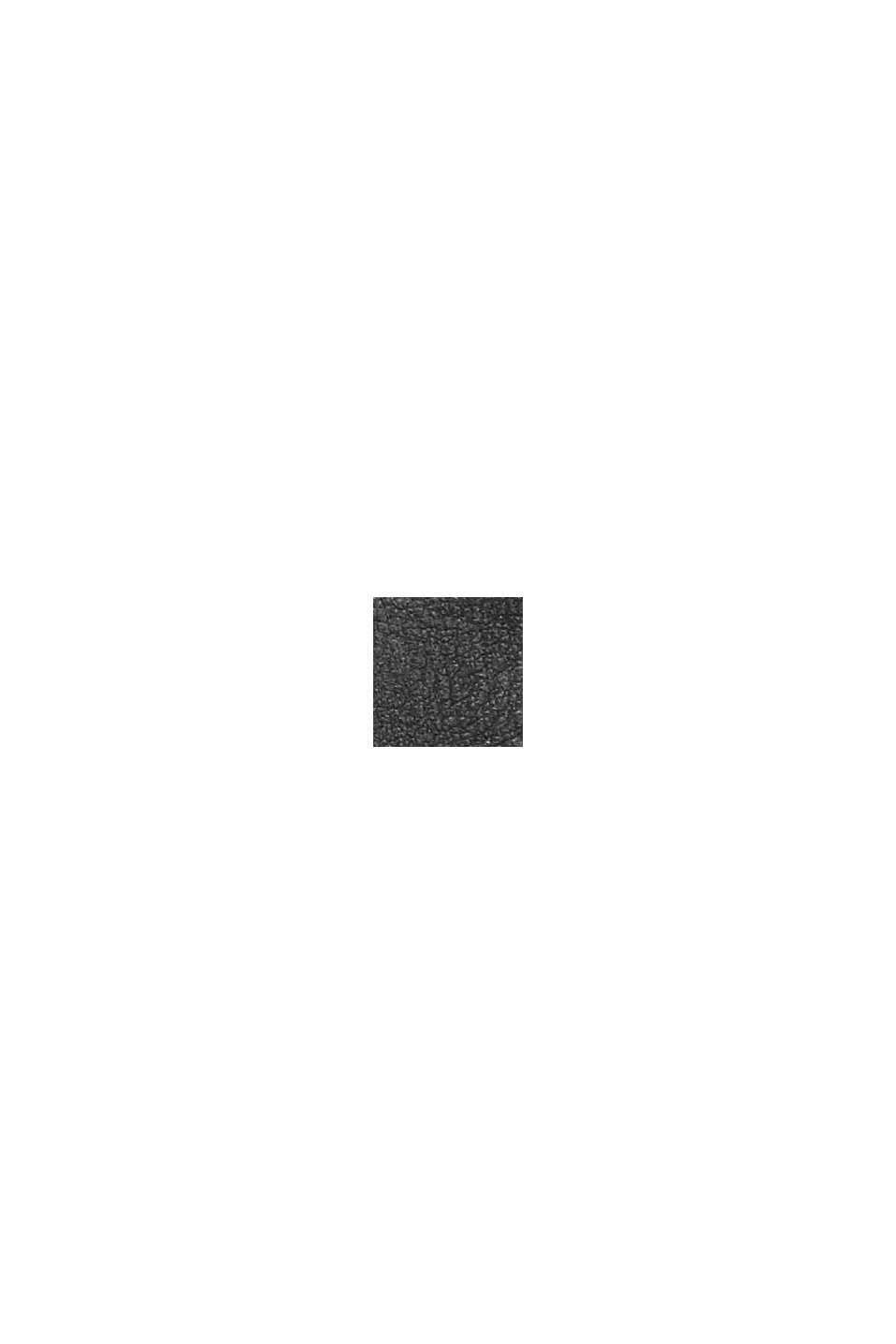 Vegano: estuche redondo con acabado trenzado, BLACK, swatch