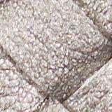 Vegan: round, woven-effect pouch, GUNMETAL, swatch