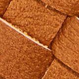 Vegan: round, woven-effect pouch, CARAMEL, swatch