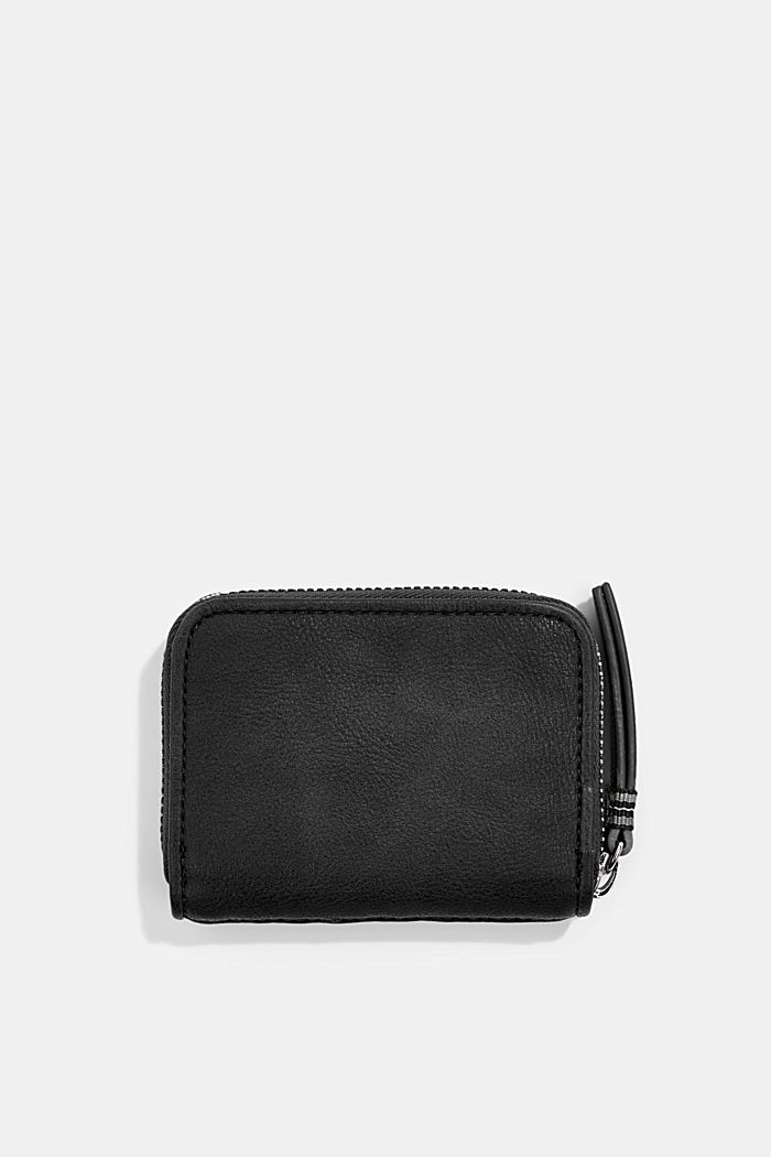 Vegan: woven-effect wallet, BLACK, detail image number 1
