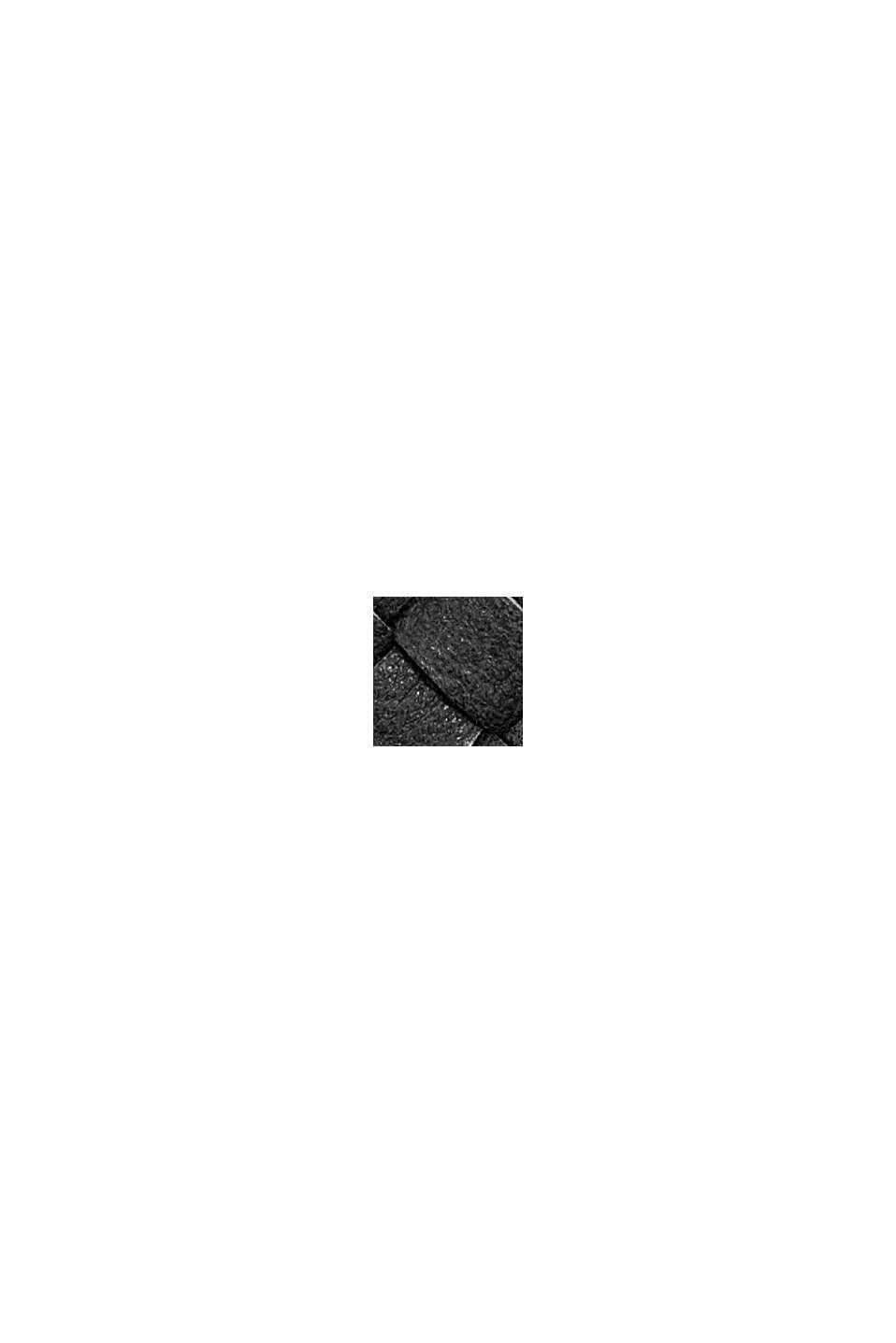 Vegansk: plånbok i flätad look, BLACK, swatch
