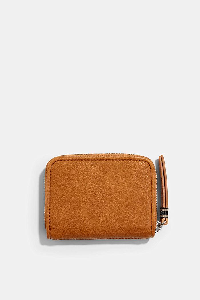Vegan: woven-effect wallet, CARAMEL, detail image number 2