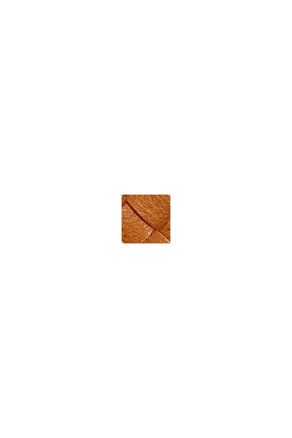 Vegansk: plånbok i flätad look, CARAMEL, swatch