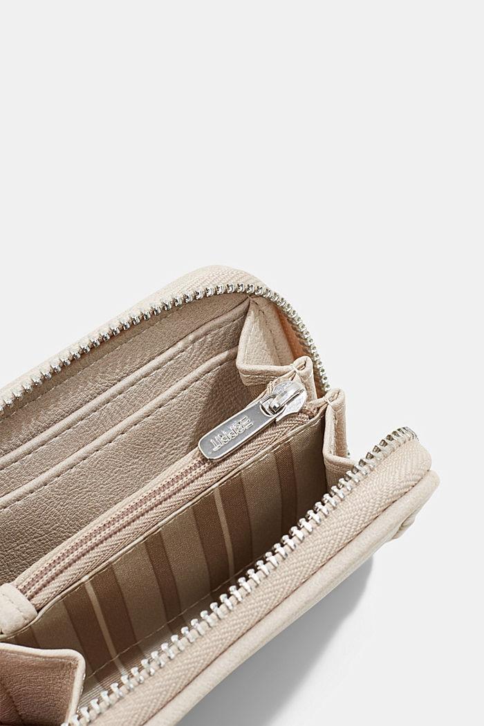 Veganistisch: portemonnee met gevlochten look, LIGHT BEIGE, detail image number 1