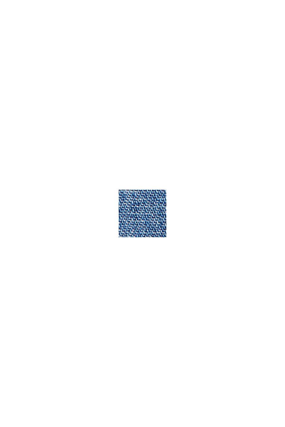 Con lino: Pantalón paper bag de tejido vaquero, BLUE MEDIUM WASHED, swatch