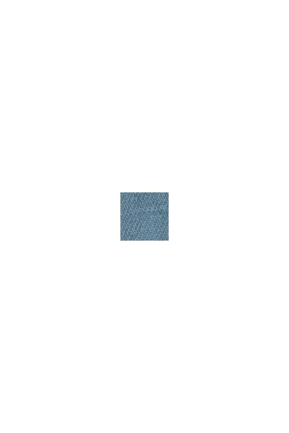 Con lino: Pantalón paper bag de tejido vaquero, BLUE LIGHT WASHED, swatch