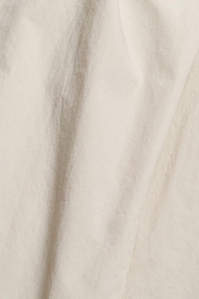 High-Rise-Chino mit Bindegürtel, LIGHT BEIGE, detail image number 4