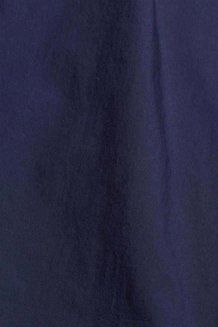 High-Rise-Chino mit Bindegürtel, NAVY, detail image number 4