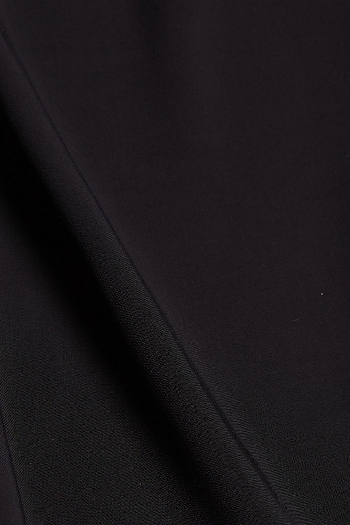 Flowing trousers with an elasticated waistband, BLACK, detail image number 4