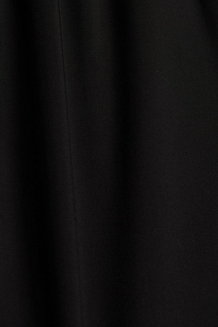 Fließende Culotte mit elastischem Bund, BLACK, detail image number 4