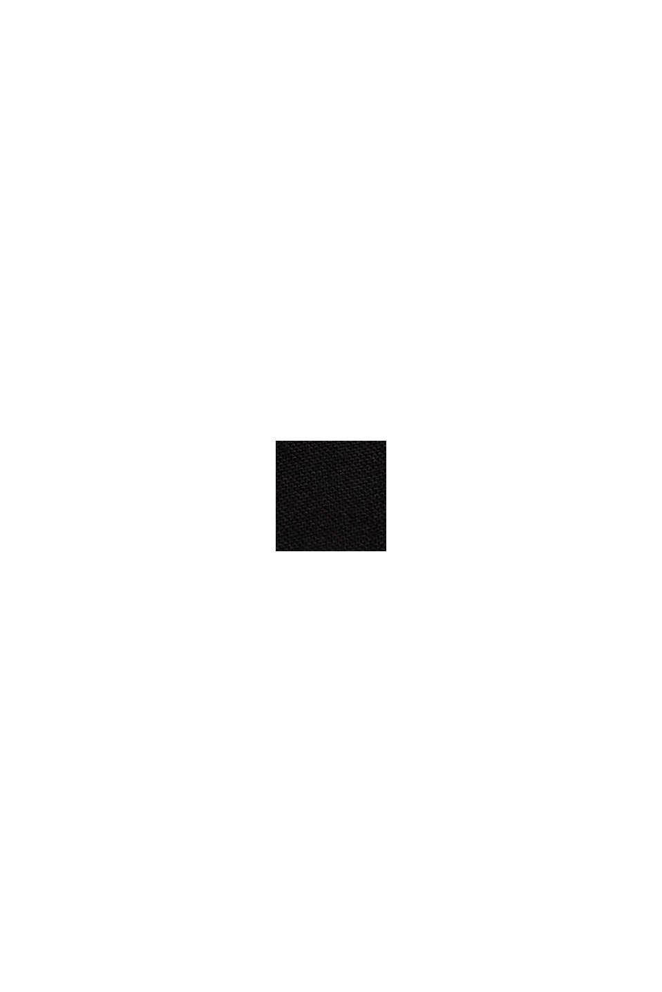Soepele culotte met elastische band, BLACK, swatch
