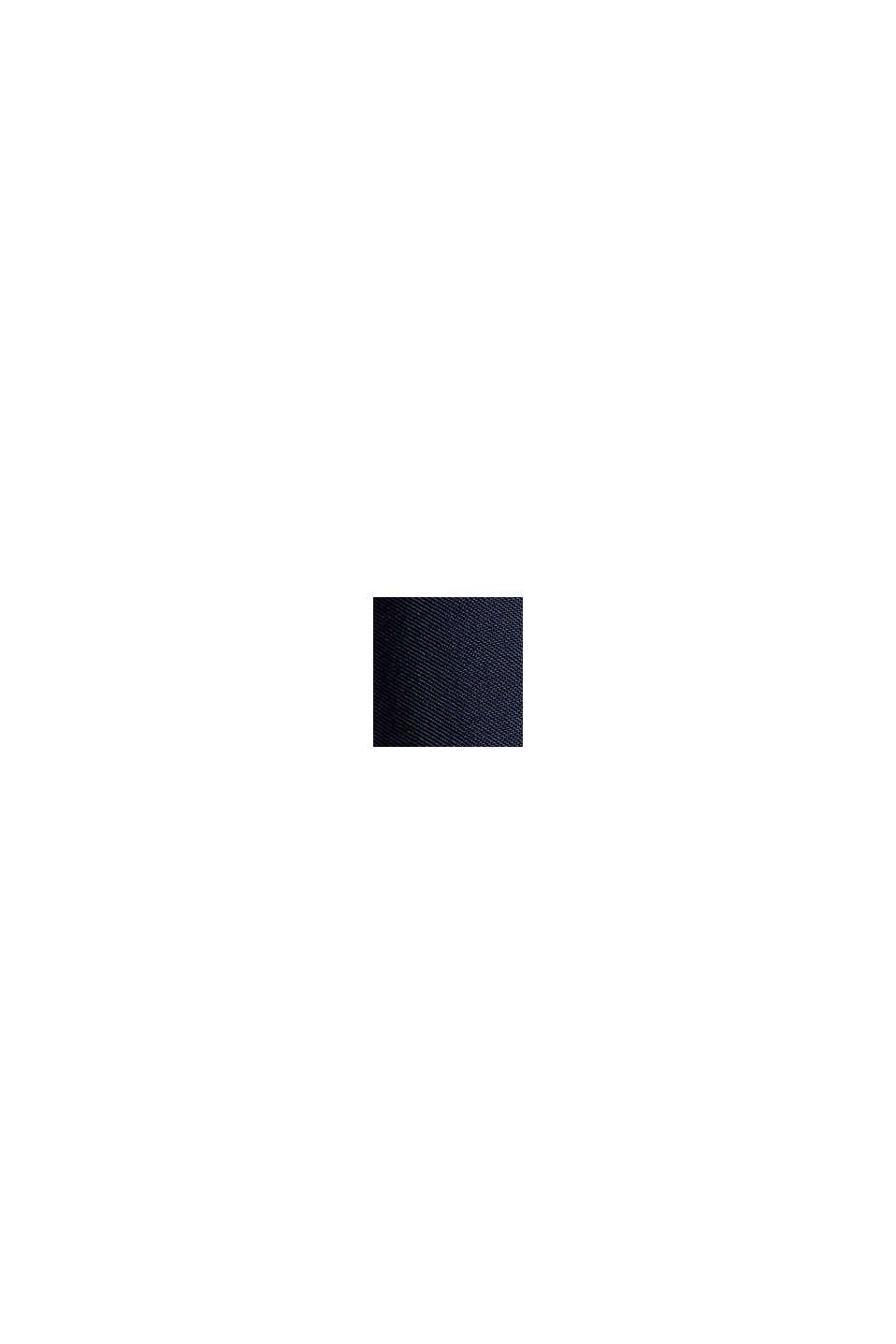 Böljande culottebyxa med elastisk linning, NAVY, swatch