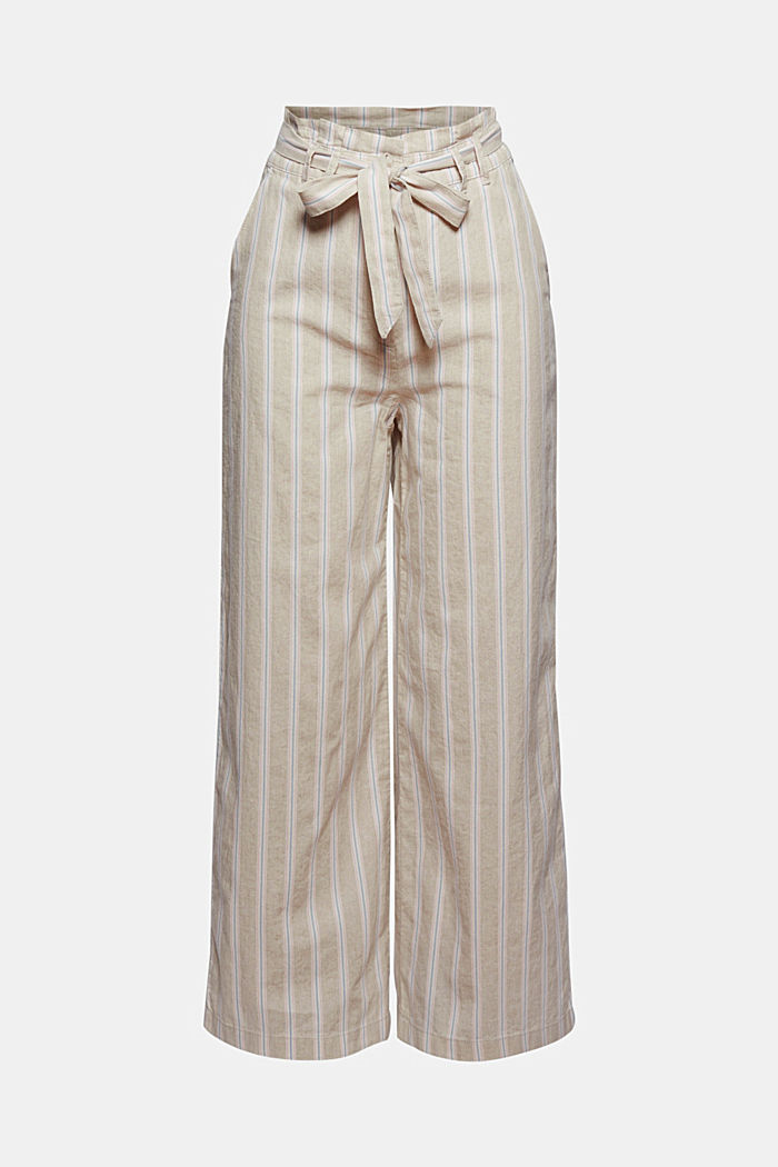 Recycled cotton/linen: wide-leg trousers