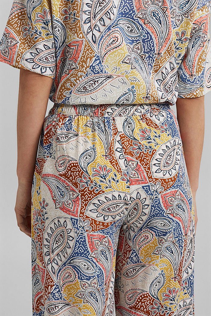 Printed wide-leg trousers, LIGHT BEIGE, detail image number 5