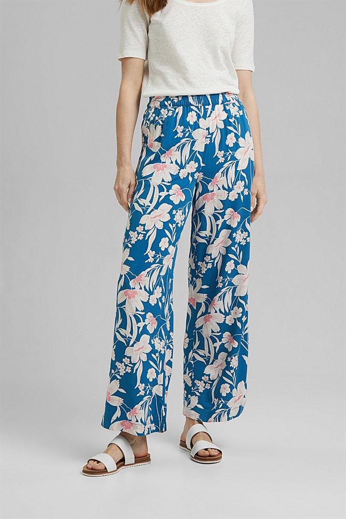 Kalhoty s potiskem a se širokými nohavicemi, BRIGHT BLUE, detail image number 0