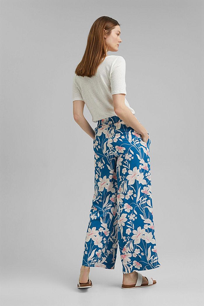 Kalhoty s potiskem a se širokými nohavicemi, BRIGHT BLUE, detail image number 3