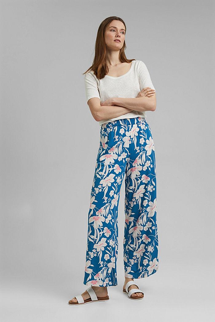 Kalhoty s potiskem a se širokými nohavicemi, BRIGHT BLUE, detail image number 1