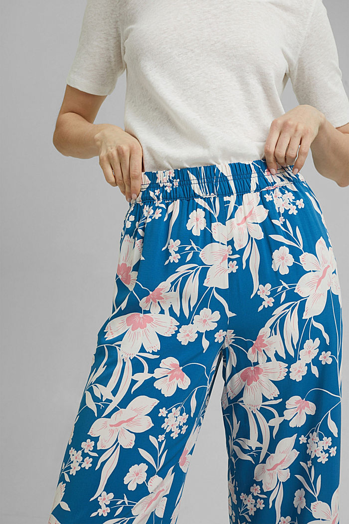 Kalhoty s potiskem a se širokými nohavicemi, BRIGHT BLUE, detail image number 2