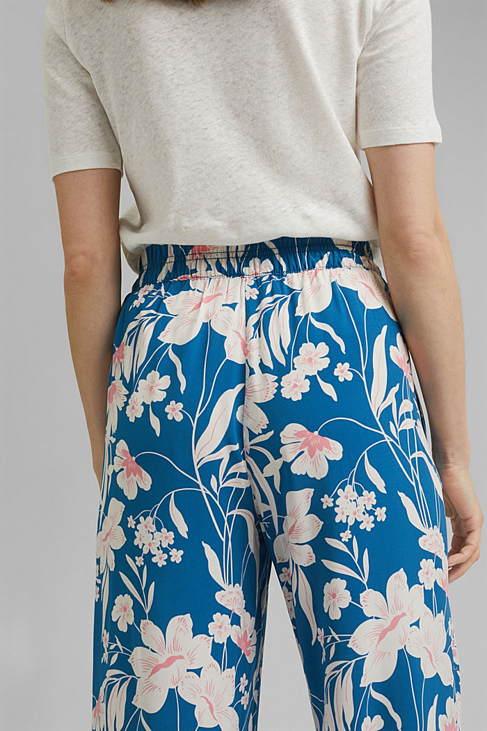 Kalhoty s potiskem a se širokými nohavicemi, BRIGHT BLUE, detail image number 4