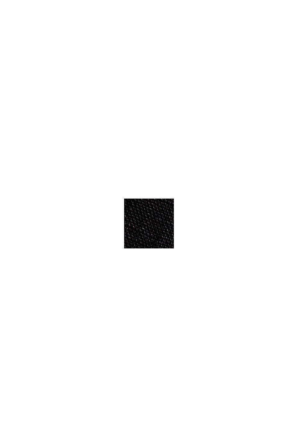 100 % pellavaa: väljät housut ja vyö, BLACK, swatch