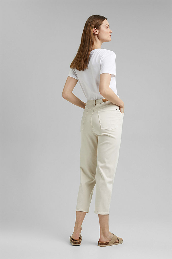 Cropped trousers with stretch, organic cotton, ICE, detail image number 3