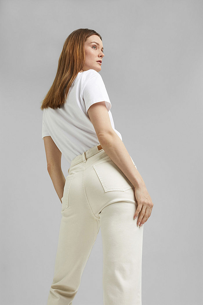 Cropped trousers with stretch, organic cotton, ICE, detail image number 6