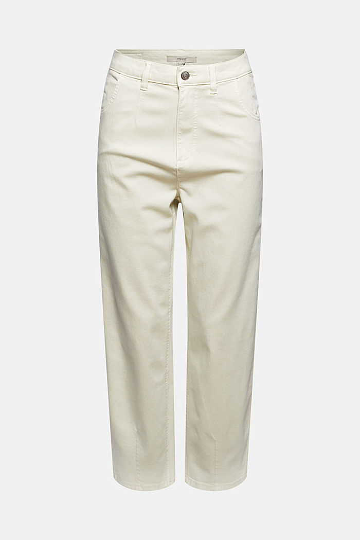 Cropped trousers with stretch, organic cotton