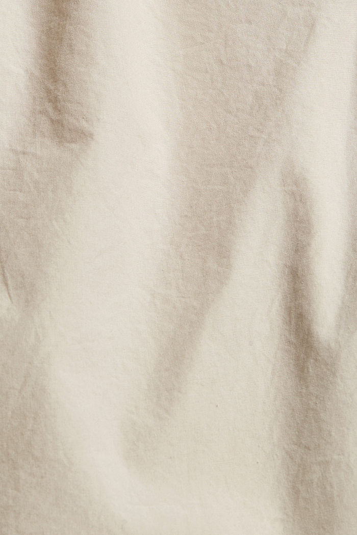 High-rise-shortsit ja vyö, luomupuuvillaa, LIGHT BEIGE, detail image number 4