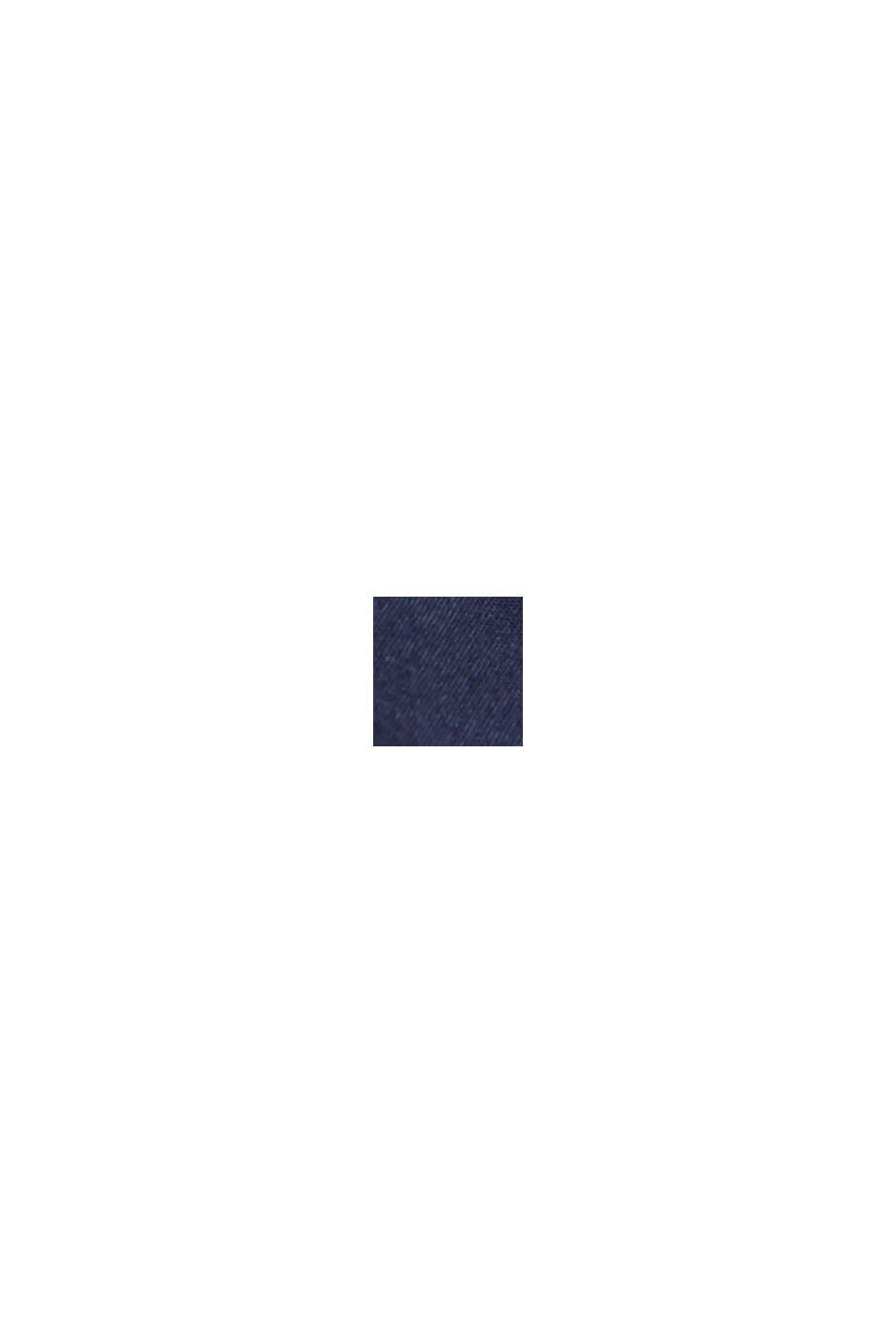 Short taille haute doté d´une ceinture, coton bio, NAVY, swatch