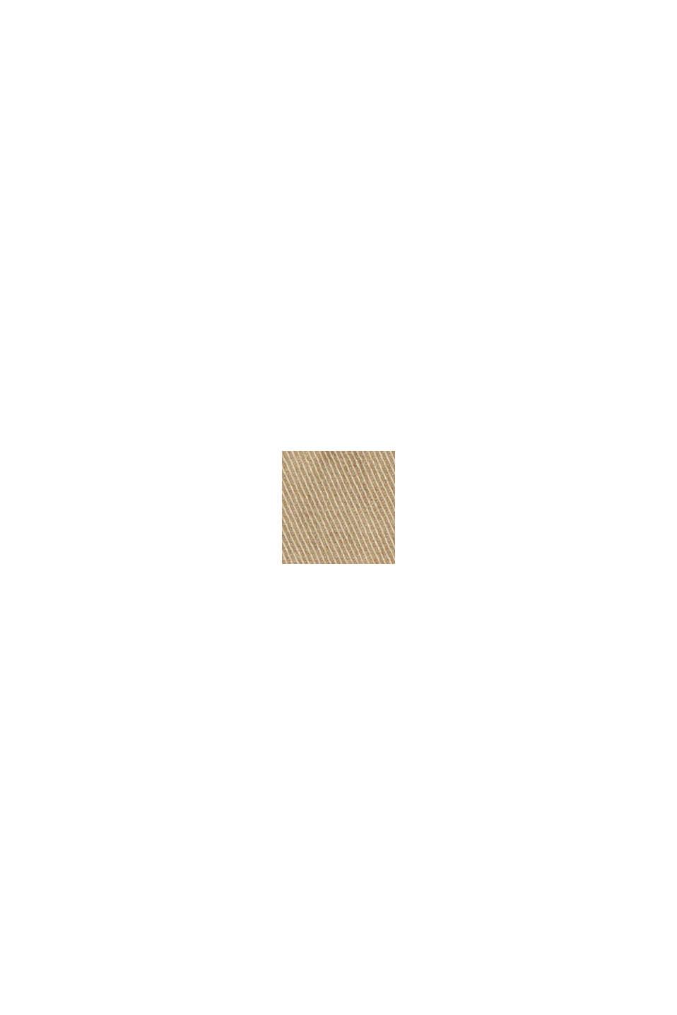 Shorts i bomuldsstretch med læg under linningen, SAND, swatch