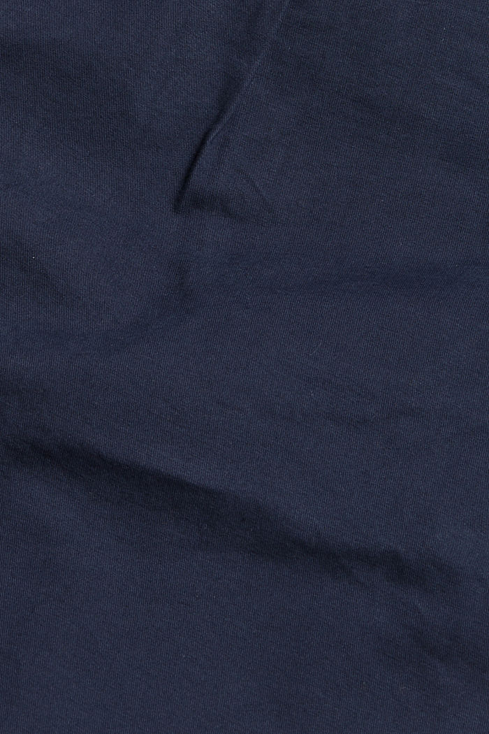 Stretch cotton shorts with waist pleats, NAVY, detail image number 4