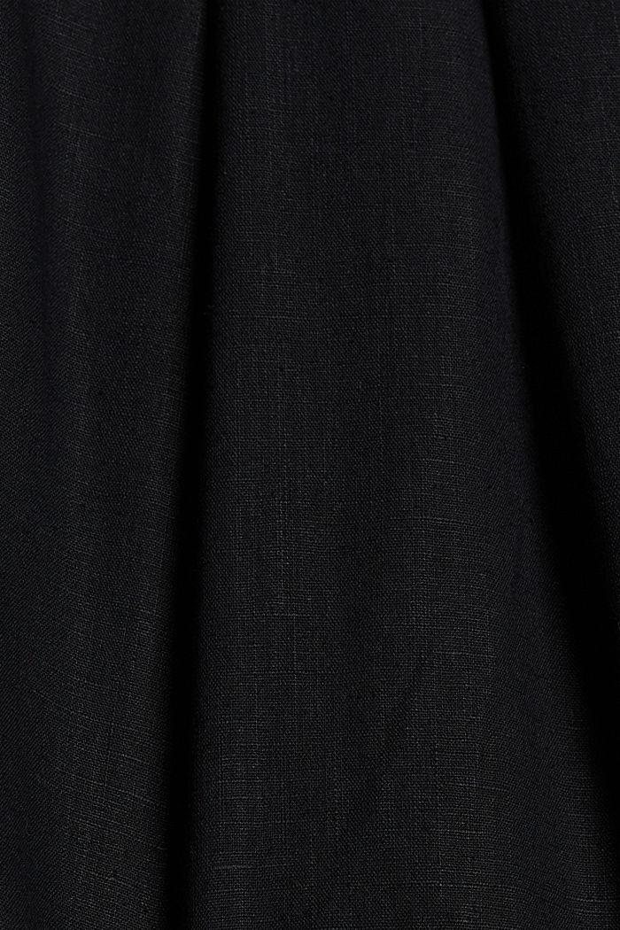 En chanvre mélangé: le short à taille élastique, BLACK, detail image number 4