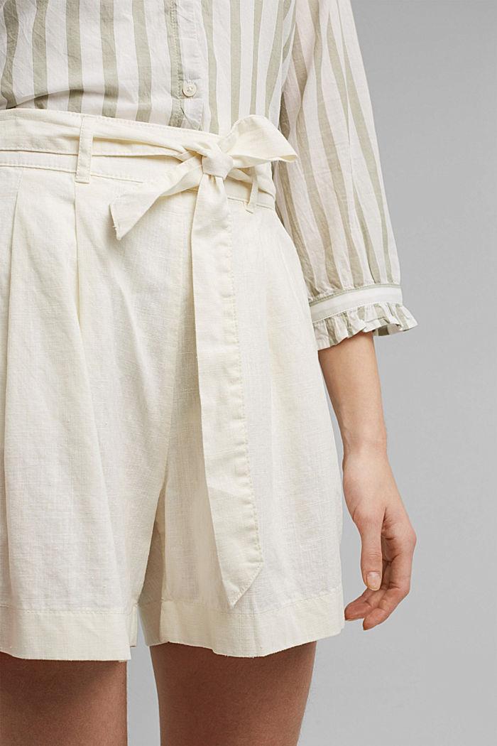 Hanf-Mix: Shorts mit Gummibund, OFF WHITE, detail image number 2