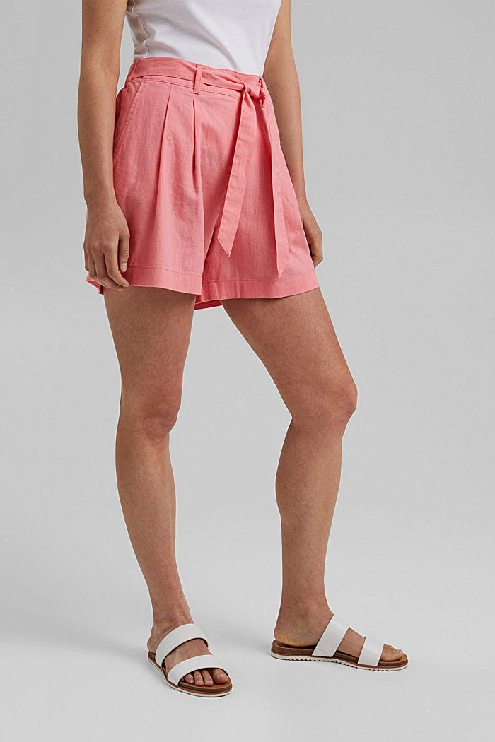 Směs s konopím: šortky s pasem do gumy, CORAL, detail image number 0