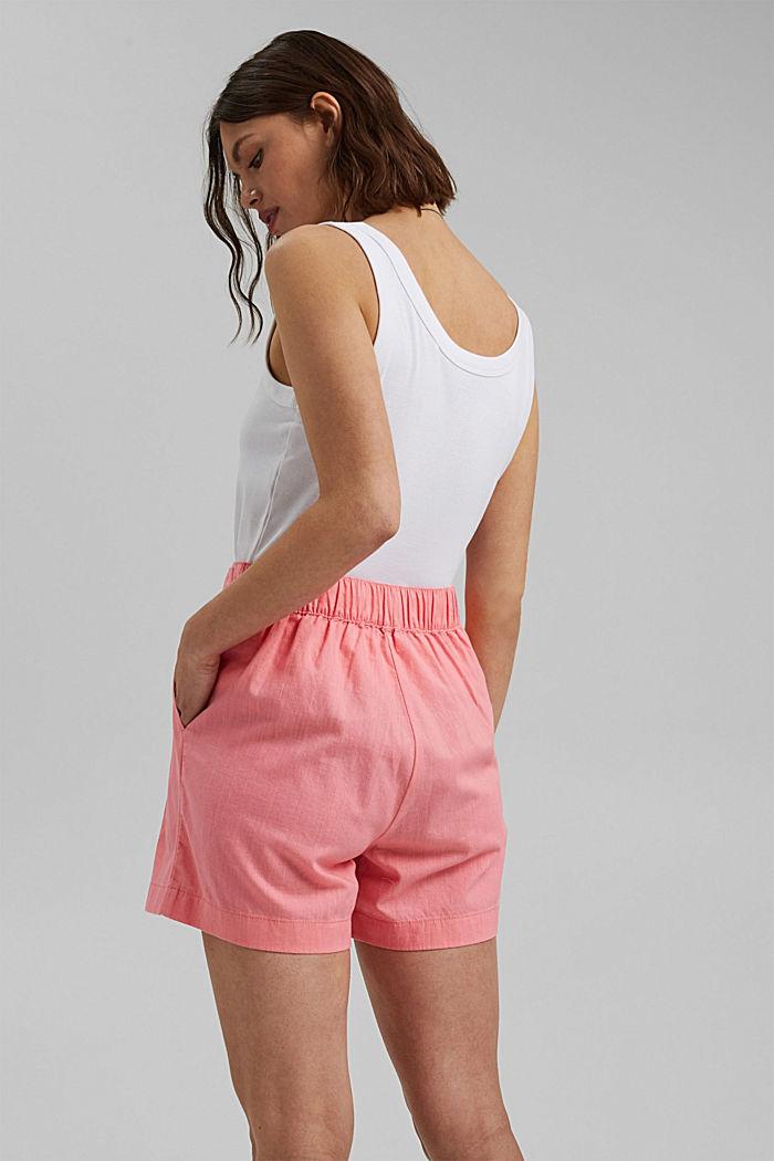 Směs s konopím: šortky s pasem do gumy, CORAL, detail image number 3