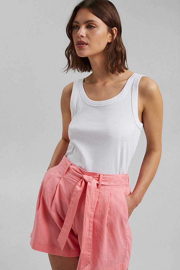 Směs s konopím: šortky s pasem do gumy, CORAL, detail image number 6