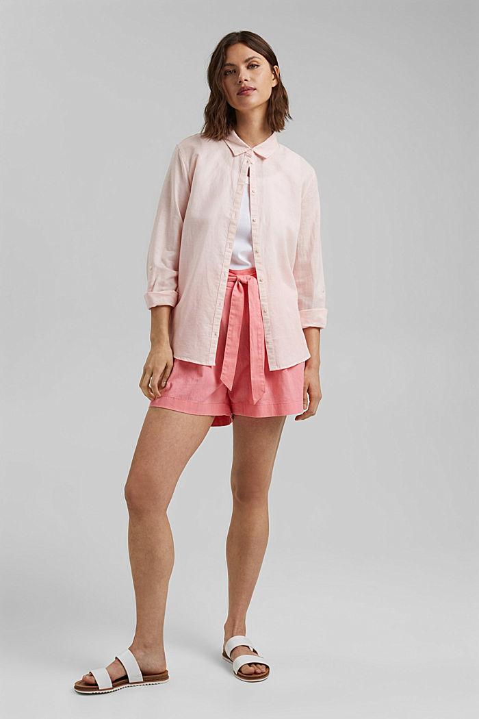 Směs s konopím: šortky s pasem do gumy, CORAL, detail image number 1