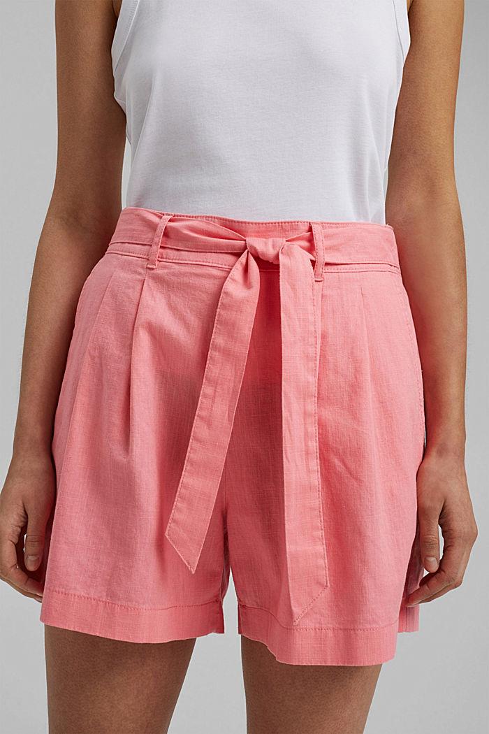 Směs s konopím: šortky s pasem do gumy, CORAL, detail image number 2