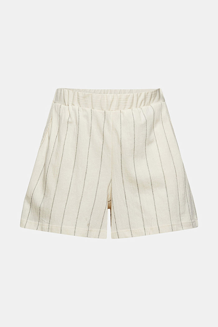 Striped woven shorts made with organic cotton, OFF WHITE, detail image number 6