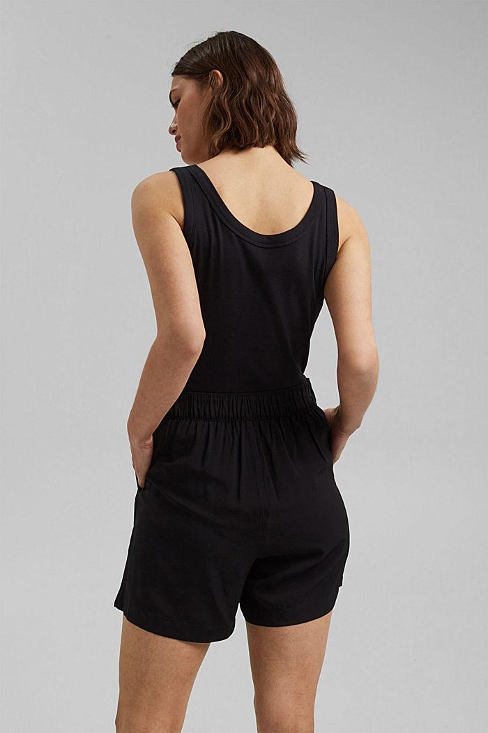 Shorts leggeri con elastico in vita, BLACK, detail image number 3