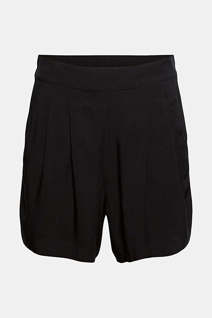 Shorts leggeri con elastico in vita, BLACK, detail image number 7