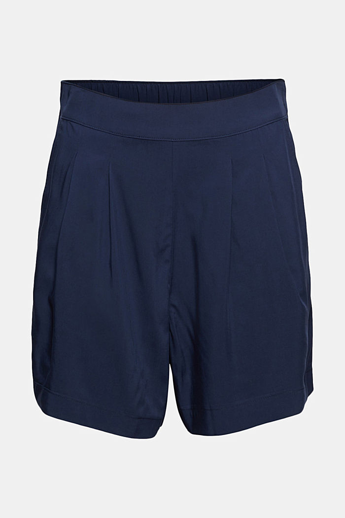Lightweight shorts with an elasticated waistband, NAVY, detail image number 6