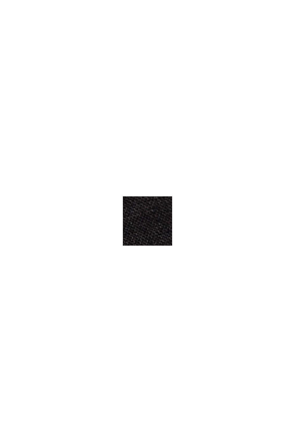 I 100% hør: Shorts med bælte, BLACK, swatch